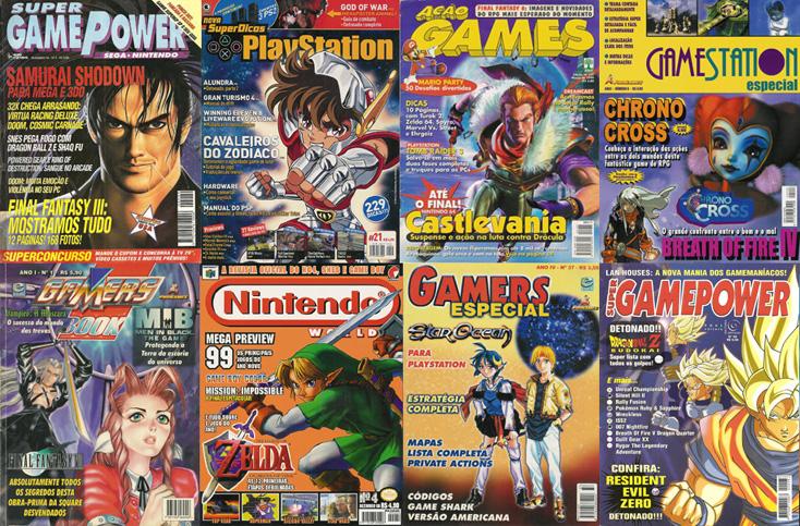 Gamers, Super Game Power e essas aí em cima mandaram bem nos anos 90